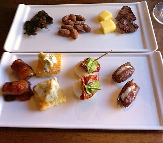 Small bites designed to pair with JAQK's varietals. - LOU BUSTAMANTE