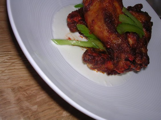 Smoked chicken wings: A tad gnawy.
