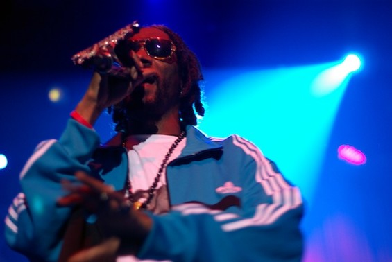 Snoop Dogg at the Fillmore on 4/20. Photos by the author.