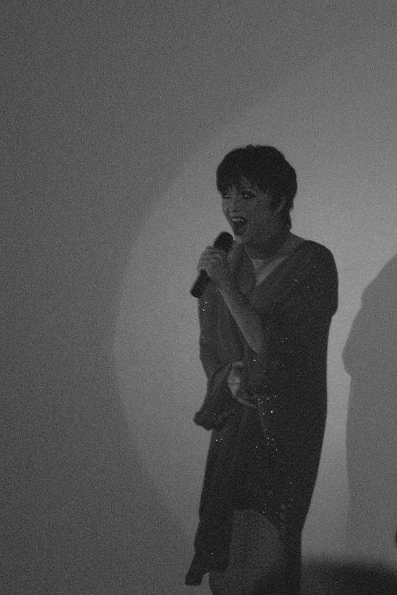 Somebody impersonates Liza Minnelli for thirty seconds. - EVAN JAMES