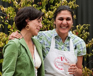 Soul Food Farm's Alexis Koefoed (left) with Samin Nosrat. - MARRIED WITH DINNER/FLICKR