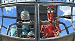 Soul of the Machine: Rodney (voiced by Ewan - McGregor) and one of his few friends, Fender (Robin - Williams).