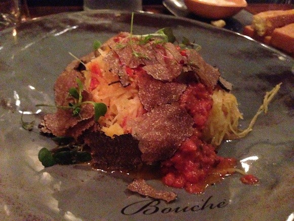 "Spaghetti Squash ""Provençale"" at Bouche. - TREVOR FELCH"