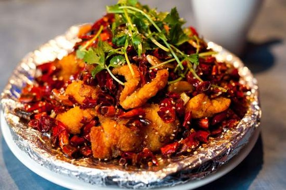 Spices's fish fillet with explosive chile pepper, $12.95 - ALBERT LAW