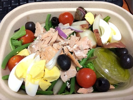 Spoonrocket's salmon nicoise salad, a recent lunch offering. - ANNA ROTH