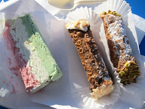 Spumoni and cannoli from Romolo's in San Mateo. - LUIS CHONG