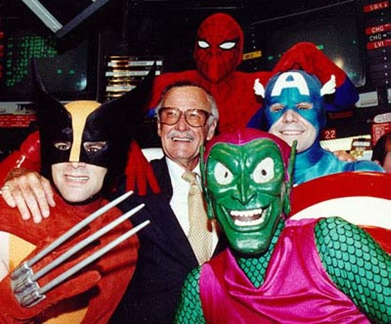 Stan Lee and some of his many creations