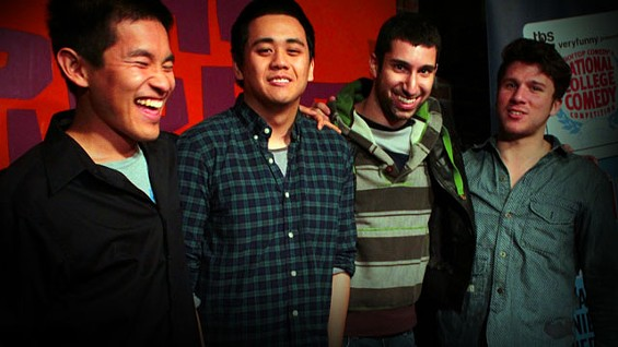 Stanford's squad: Tommy Liu, Anthony So, Arbel Kodesh, and Harley Adams - COURTESY ROOFTOPCOMEDY.COM