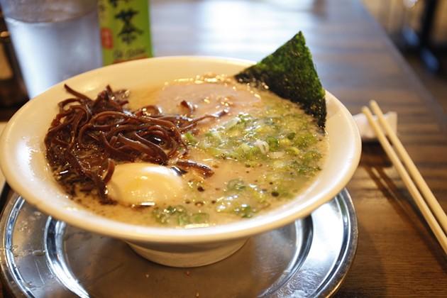 Orenchi's silky tonkotsu ramen. - FLICKR/VIXYAO