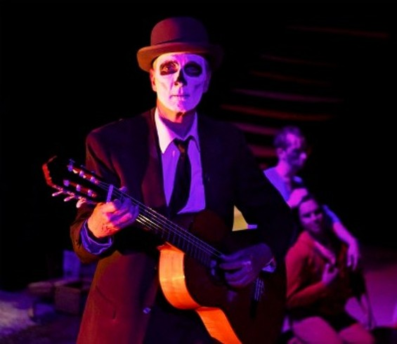 "Steve Boss plays some mean guitar (and skeleton) in Montoya's ""The River"" - PAK HAN PHOTOGRAPHY"
