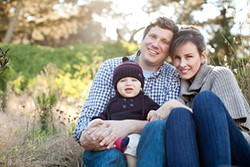 SCOTT STATER - Steve Brodsky with his wife, Anna, and their son, Mason.