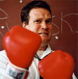 GREG SLICK - Steven Karwoski put up a fight in Adventures of a Substitute Teacher