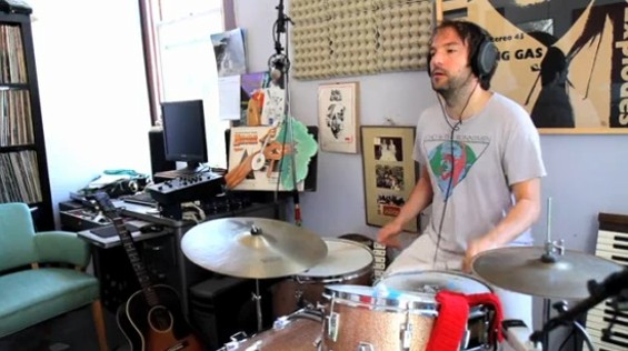 Stoltz recording in his studio, from the new Yours Truly video