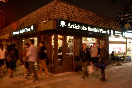 Students abound at Artichoke Basille's Berkeley location, its first outside NYC. - PETE KANE