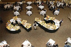 PAOLO VESCIA - Students prepare and serve a lunch buffet at the school's Careme Room restaurant.
