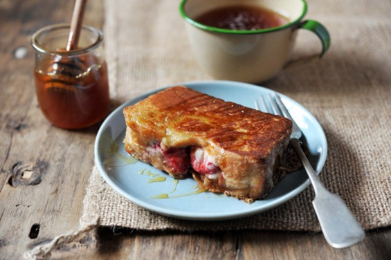 Stuffed French toast made with brioche HOLY CRAP - CELINE STEEN