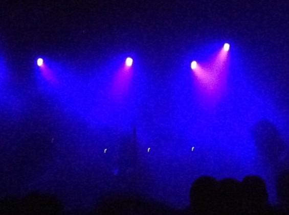 Sunn O))) shrouded in darkness at Mezzanine last night.