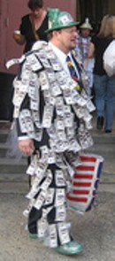 Sure you can give a suit like this to a city official. Just remember to report it within 10 days.