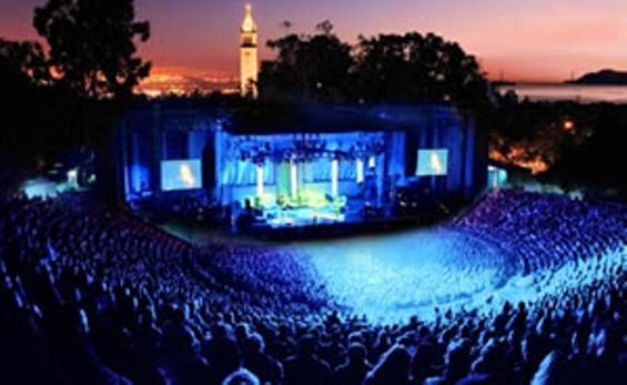 Surreal sunset at Berkeley's Greek Theatre