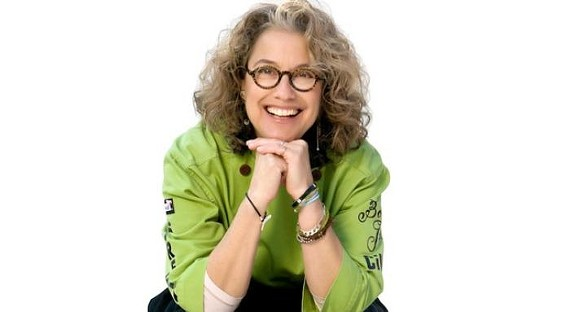 Susan Feniger serves dishes from her new book at Insalata's on Sept. 20. - SUSAN FENIGER