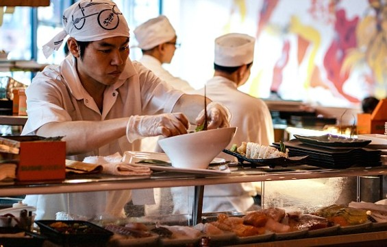 Sushi chefs won't have to wear plastic gloves if the new bill is passed. - FLICKR/BARSEN
