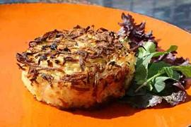 Sweet Jo's latke-like potato kugel. - C. ALBURGER