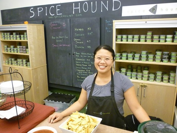 Tammy Tan's spice shop is now one of six vendors at the 6-month-old food market in Bernal Heights. - ALEX HOCHMAN