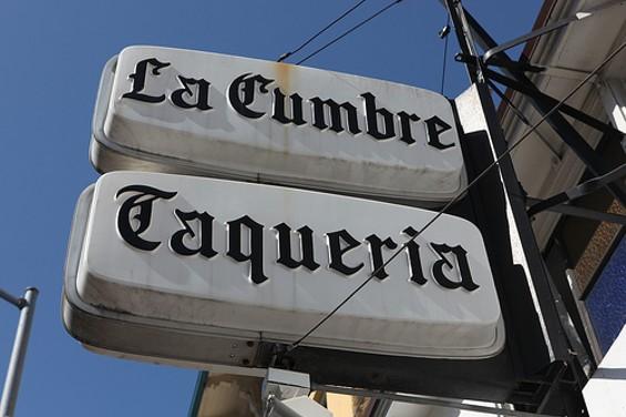 Taqueria La Cumbre: Forty years of burritos. - JONATHAN K.