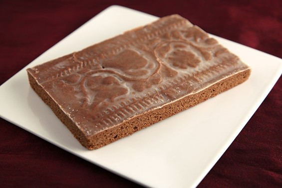 Tartine's springerle-mold gingerbread, $3.75: Pretty enough to mount on your wall. - A.J. BATES
