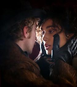 Taylor-Johnson squeezes Keira Knightley's delightful face in Anna Karenina.