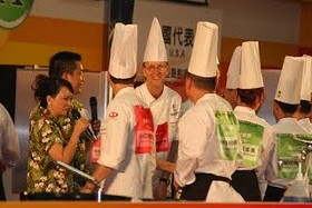 Team USA (in red) reacts to winning Silver. - SF ASIAN CHEFS ASSOCIATION
