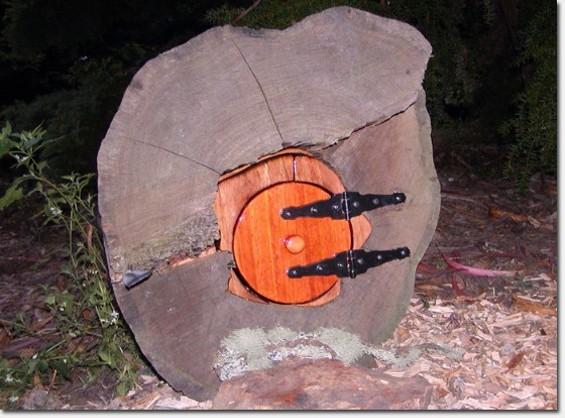 Teeny Tiny Tree House Door is moved, thanks to eminent domain - TONY POWELL VIA RICHMONDSFBLOG.COM