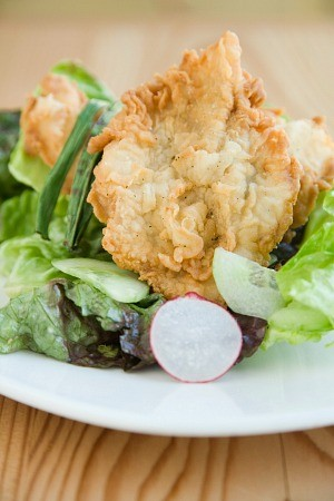 TG's signature fried chicken salad. - TENDER GREENS