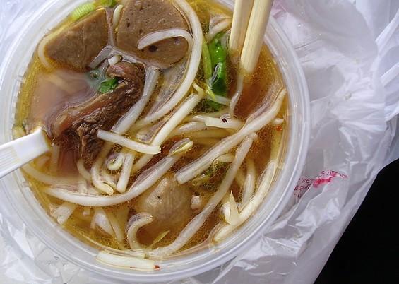 Thai boat noodle soup ($7.50). - JOHN BIRDSALL