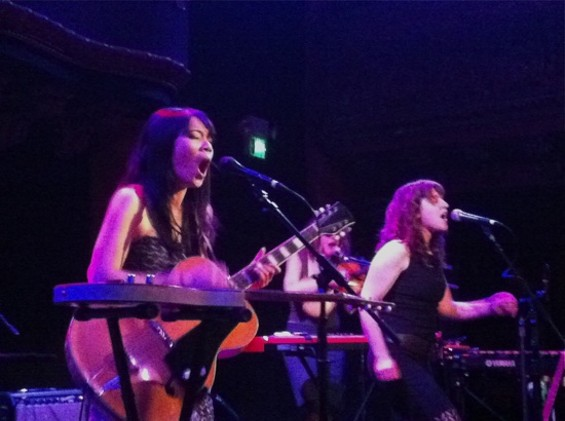 Thao and Mirah at Great American Music Hall last night.