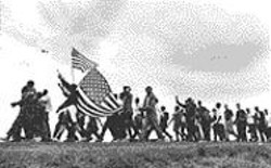 MATT  HERON - The 1965 civil rights march from - Selma to Montgomery.