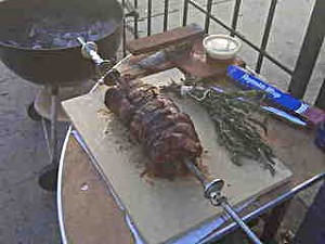 The 4505 Meats chef stuffed the leg with various other parts. - M. LADD