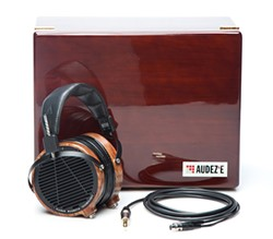 The $995 Audeze LCD2 headphones, the author's choice for his first listen to My Bloody Valentine's long-awaited third album.