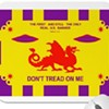 UFOs, Dragon, on Marin Shopkeeper's 'Alternative' U.S. Flag