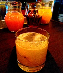 The Antidote (rye, mezcal, honey and ginger) - PETE KANE
