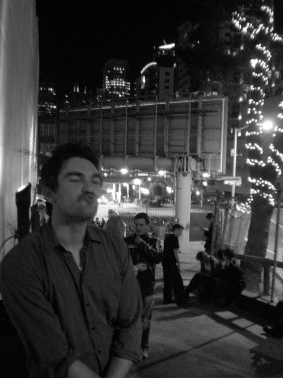 The author, outside the gala. - EVAN JAMES