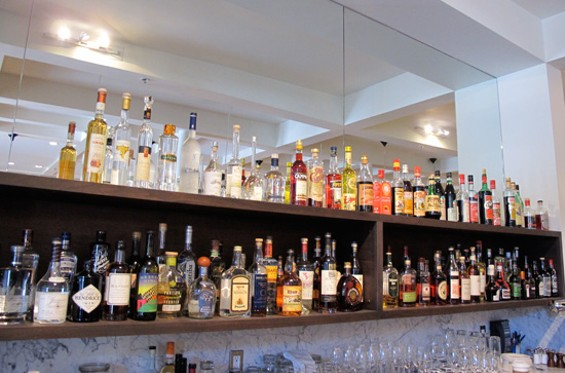 The back bar at Locanda - LOU BUSTAMANTE