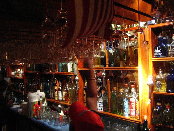 The bar at Tommy's Mexican Restaurant, an international hub of tequila. Founder Tommy Bermejo died this week. - RICK/FLICKR