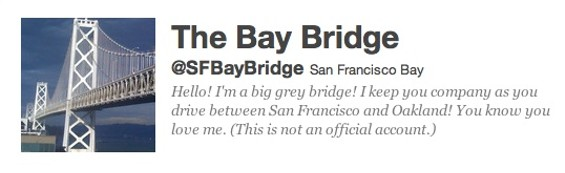 The Bay Bridge on Twitter: 20,000 feet across but only 140 characters - NANCYESMITH