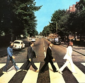 The Beatles were walking AND working