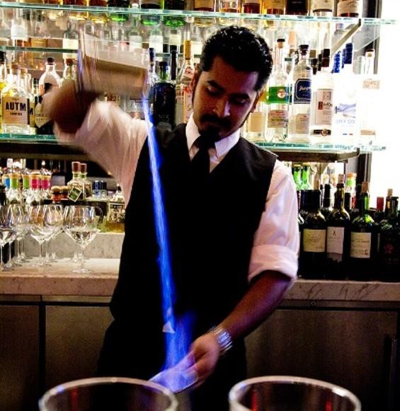 The Blue Blazer, a historic S.F. drink. - THE DAPPER DINER