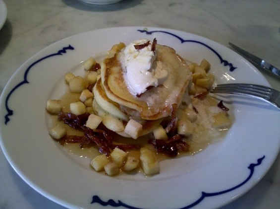 The buttermilk pancakes at Out the Door Bush: Mayberry by way of Asia. - C. ALBURGER