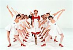 The candy-colored costumes and sets - evoke classic movie musicals and funky - '60s fashion.