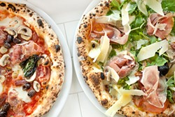 LARA HATA - The Capricciosa (left) and the Italia benefit from quality ingredients.