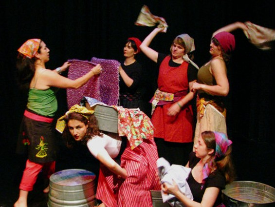The cast of  Dirty Laundry  whips out those stains! - AMY CLARE TASKER